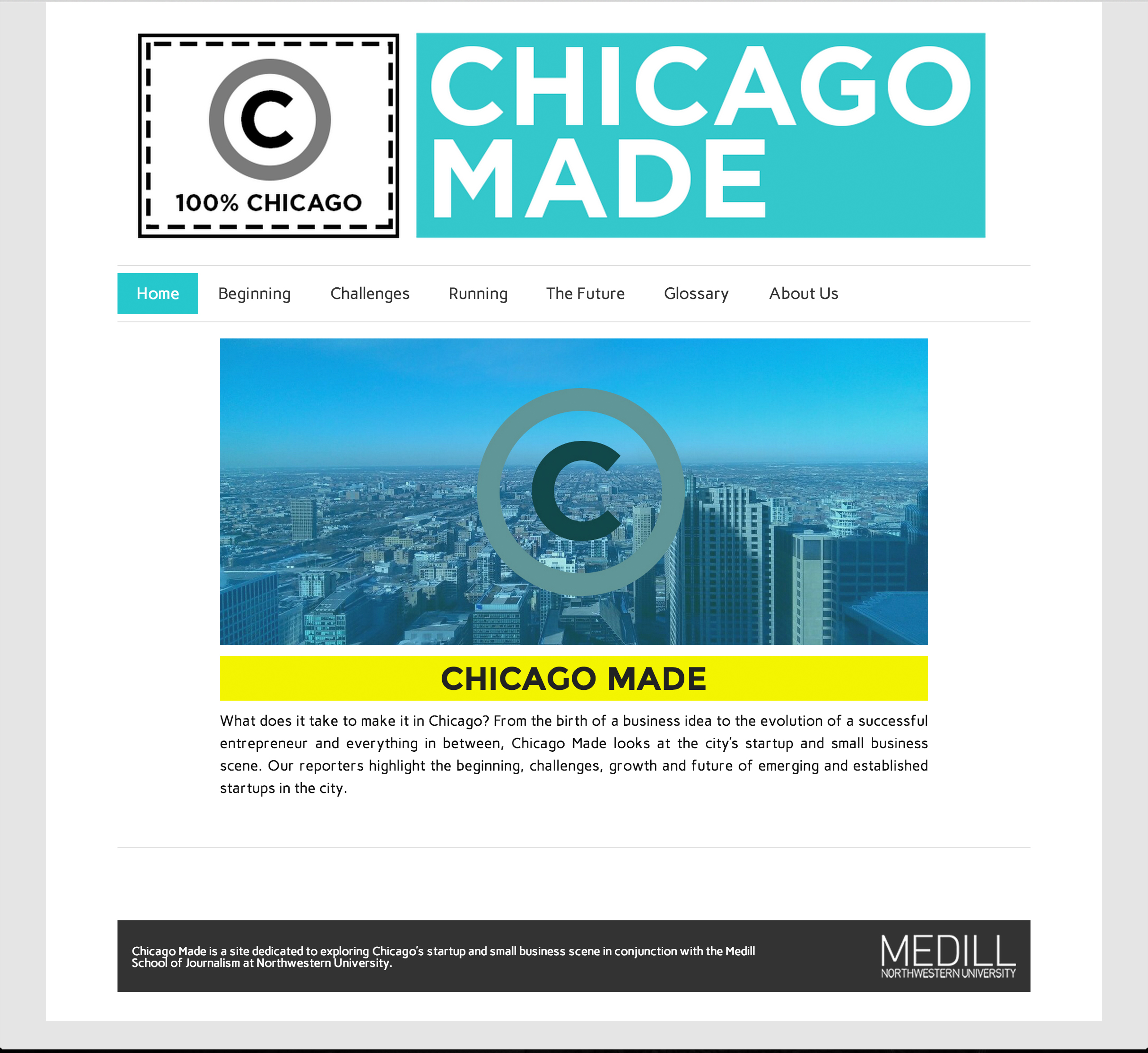 Chicago Made website design