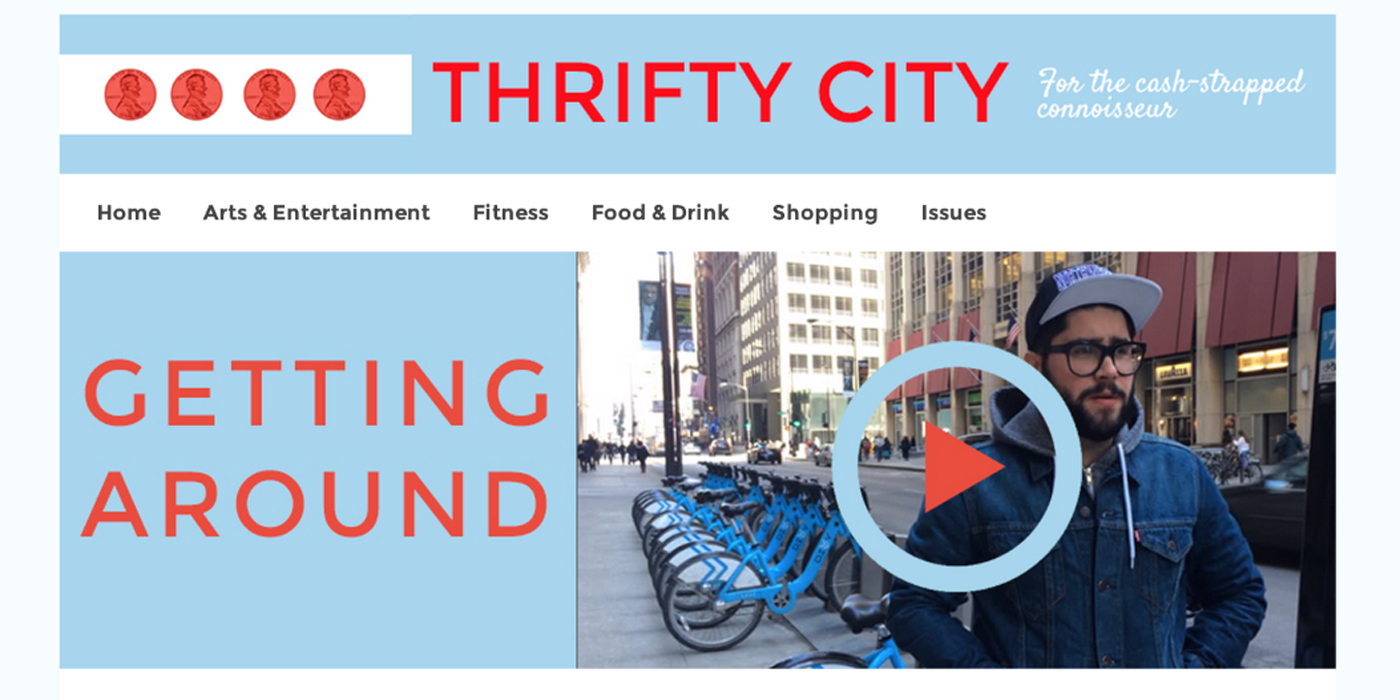 Thrifty City website design